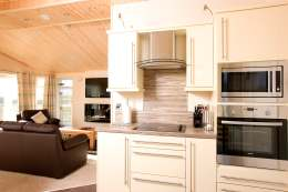 Fully equipped kitchens in each of our self-catering lodges - Click for larger version